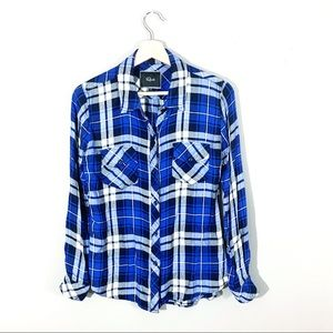 Rails | Plaid Button Down Flannel Blue Size Small